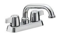 "4"" Deck Mount Laundry Tray Faucet, Chrome Plated"