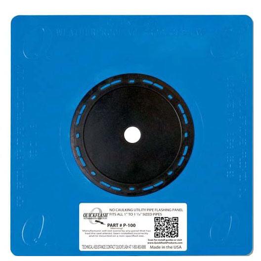 "1"" - 1-1/4"" Flashing Panel, Polyethylene/Thermoplastic Elastomeric"