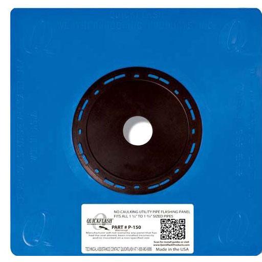 "1-1/2"" - 1-3/4"" Flashing Panel, Polyethylene/Thermoplastic Elastomeric"