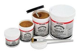 8 Oz Paste Soldering Flux, Tan/Gold to Black