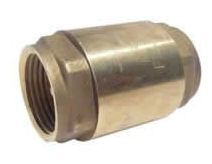 """1"""" Threaded Check Valve, Forged Brass CW510L Brass Horizontal/Vertical, In-Line Spring Loaded"""