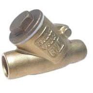 """3/4"""" Soldered Check Valve, Brass CW510L Brass Y-Pattern, Swing"""