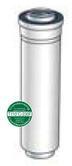 """10"""" Water Heater Vent Pipe Extension, Polypropane/Plastic"""