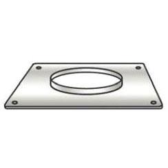 Water Heater Vent Pass Through Plate, Metal