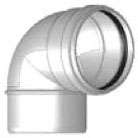 """6"""" PVC 90D Straight Bend - SDR 35, Spigot x Gasketed"""
