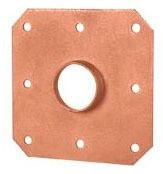 "1/2"" CTS Steel Square Solder Pipe Strap"