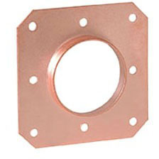 """1"""" CTS Steel Square Solder Pipe Strap"""