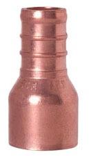 "1/2"" Copper Female Straight Adapter - PowerPEX, PEX x FTG"