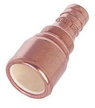 "1/2"" Copper Straight Adapter - PowerPEX, PEX x CPVC"