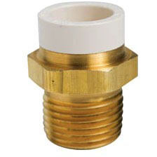Brass Straight Adapter CPVC x Male Threaded 3/4""