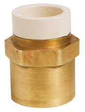 "1/2"" Brass Female Straight Adapter - MetalHead, CPVC x FPT"