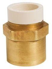 "1/2"" Brass Female Straight Adapter - MetalHead, CPVC x FPT"