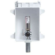 """Ice Maker Outlet Box, ABS 1/2"""" Female Soldered x 1/4"""" Compression"""