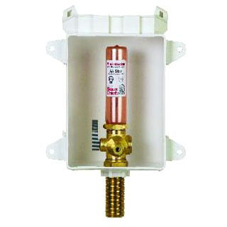 """Ice Maker Outlet Box, ABS 1/2"""" PEX x 1/4"""" Compression"""