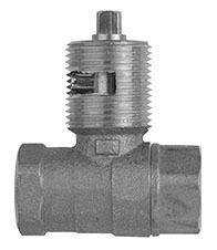 "1/2"" Cast Brass Straight Log Lighter with Chrome Plated Flange - Hearthmaster, 1/4 Key, FPT, 1/2 psi, Bulk"