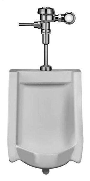 0.125 GPF Flushometer Combined Urinal, Vitreous China