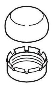 "1"" Toilet Flushometer Control Stop Cap Assembly"