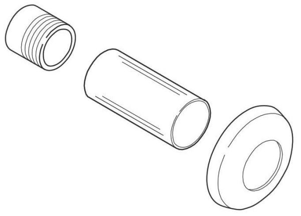 "1"" Toilet Flushometer Sweat Solder Kit"