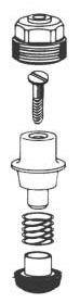 """1"""" Toilet Flushometer Screw Driver Control Stop Repair Kit"""