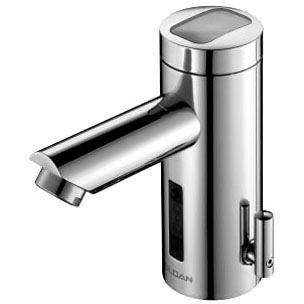 Electronic Faucet with Infrared Sensor - SOLIS, Chrome Plated, Die-Cast Metal, Deck Mount, 0.5 GPM