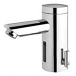 Electronic Faucet with Infrared Sensor - Lino, Chrome Plated, Die-Cast Metal, Deck Mount, 0.5 GPM