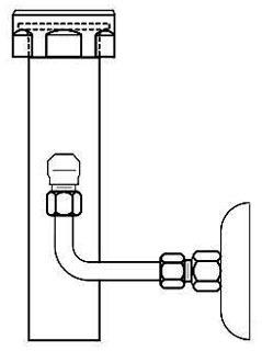 """Threaded Vacuum Breaker Trap Primer 1-1/2"""" x 13-1/2"""""""