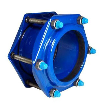 "3/4"" x 3/4"", 1.05"" Pipe OD, 150 PSI, Lead-Free, Flexi-Coat Fusion Bonded Epoxy, Fabricated, Carbon Steel, Bolted Sleeve, Straight, Coupling"