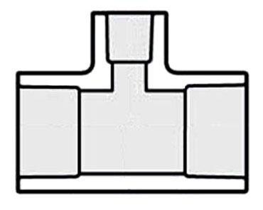 """1"""" x 1"""" x 3/4"""" PVC Reducing Tee - SCH 40, Socket"""
