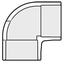 "10"" x 10"" Socket x Socket White PVC 40S 90D Elbow"