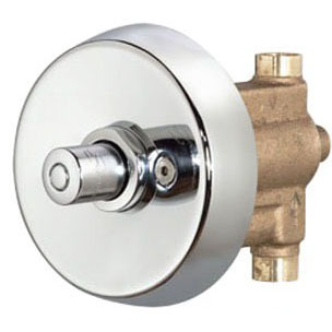 Showeroff Soldered Metering Shower Valve, Chrome Plated