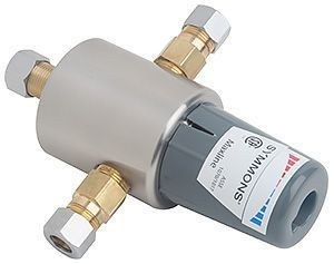 "3/8"" Maxline Compression Thermostatic Mixing Valve, Stainless Steel"