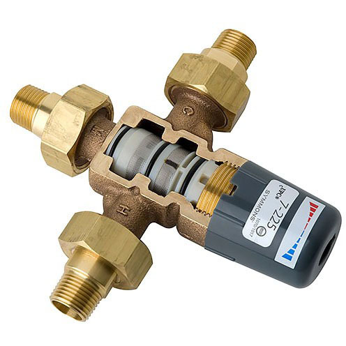 Maxline Threaded/Soldered Thermostatic Mixing Valve, Metal 1/2""