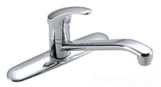 Kitchen Faucet with 360D Swivel Spout & Single Lever Handle - Origins, Polished Chrome, Deck Mount, 2.2 GPM