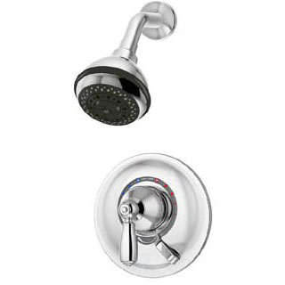 Allura Wall Mount Shower Faucet, Polished Chrome
