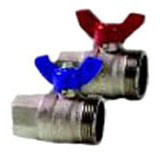 "Threaded Manifold Ball Valve Set, Forged Brass 1-1/4"" x 1"""