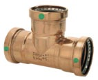 "4"" x 4"" x 2-1/2"" ProPress XL Copper Reducing Tee"