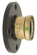 "4"" ProPress XL Copper, Plastic Snap Ring Flange"