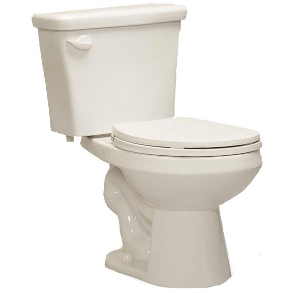 1.28 GPF Round Front Bowl Pressure-Assisted Toilet, White