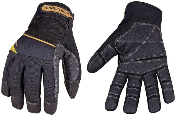 Non-Slip Reinforced Hand Gloves Terry Cloth/Nylon/Suede Synthetic