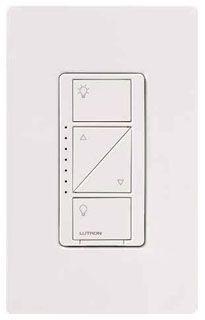 LUT PD-6WCL-WH Caseta Wireless Wht Dimmer SP/MULTI-LOC 150W LED/CFL 600W Incandescent/Halogen 120V