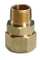 "3/4"" Brass Male Straight Adapter - AutoFlare, MPT x Flare"