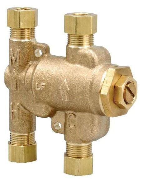 "3/8"" Compression Tempering Valve, Brass"
