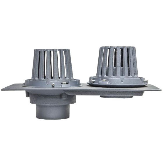 No Hub Combination Roof Drain, Cast Iron