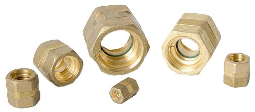 "3/4"" Brass Straight Coupling - CSST"