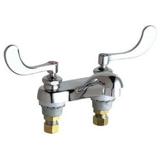Deck Mount Manual Faucet, Chrome Plated