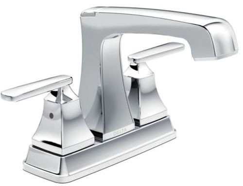 Ashlyn Bathroom Sink Faucet with Two Handle and Metal Pop-Up - Chrome Plated, 1.2 GPM