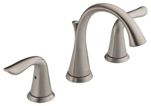Lahara Bathroom Sink Faucet with Two 1/4 Turn Handle - Brilliance Stainless, 1.2 GPM