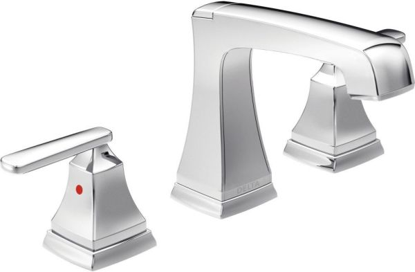 Ashlyn Bathroom Sink Faucet with Two Handle - Chrome Plated, 1.2 GPM