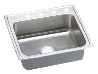 "Elkay Lustertone Stainless Steel 22"" x 19-1/2"" x 6-1/2"", Single Bowl Top Mount ADA Sink"