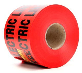 """MI 17783-79-6000 6""""x 1000ft RED UG """"Buried Electric Line Below"""" Marker Tape """"Non Detectable"""" (fka 3M 368)"""